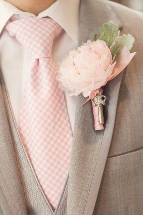 Brudgum blushpink